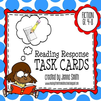 Reading Response Task Cards - Fiction