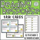 Reading Response Task Cards (Fiction & Nonfiction)