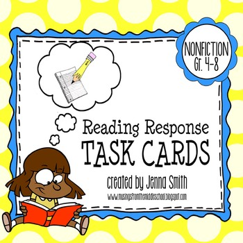 Reading Response Task Cards - Nonfiction