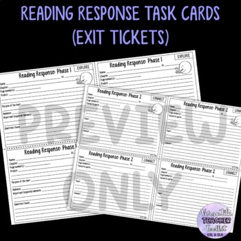 Reading Response Task Cards (Reading Skills) ESL/ELA