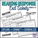 Reading Response Task Cards (Reading Skills) ESL/ELA