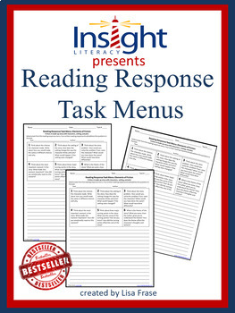 Reading Response Task Menu w/Critical Thinking Questions for Any Book