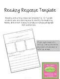 Reading Response Template - Freebie