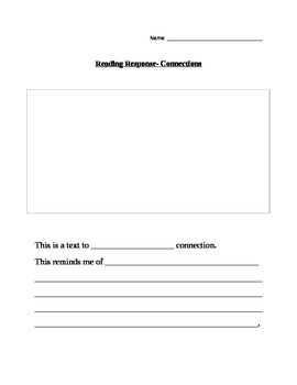 Reading Response Template for all grades!