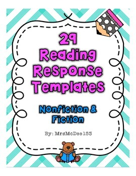 29 Reading Response Templates - Fiction and Nonfiction