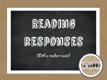Reading Response Templates with a Modern Twist - Inspired by Technology!