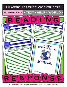 Reading Response - Text-to-Text, Text-to-Self, Text-to-World - Intermediate