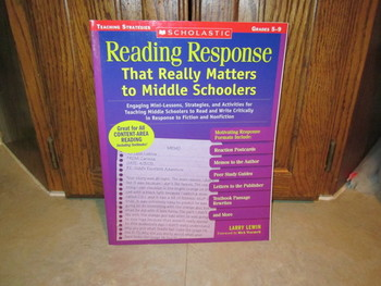 Reading Response That Really Matters to Middle Schoolers (