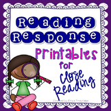 Reading Response Templates {ANY Fiction or Nonfiction Text}