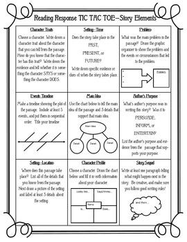 Reading Response Tic-Tac-Toe - 27 Activities - Grades 3-6 - FUN!