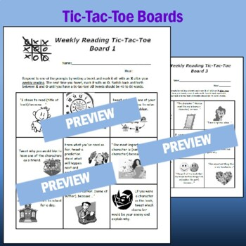 Reading Response Tic-Tac-Toe with Reading Tweets for MS & HS