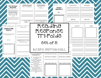 Reading Response Tri-Folds - Set of 5