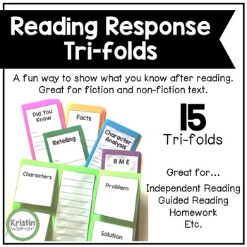 Reading Response Tri-folds