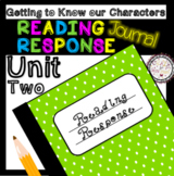 Reading Response Unit 2 Getting to Know Our Characters