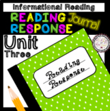 Reading Response Unit 3 Informational Reading