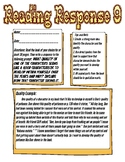Reading Response: What quality of a character do you want