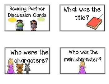 Reading Response Whole Group, Partner, or Individual Questioning Cards