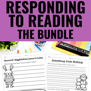 Reading Response With Picture Books BUNDLE