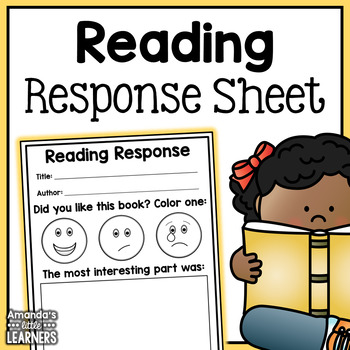 Reading Response Worksheet - Free