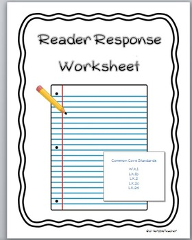 Reading Response Worksheet - Primary