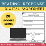 Reading Response Worksheets | Google Apps | Distance Learning