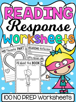 Reading Response Worksheets - Graphic Organizers and Printables