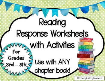 Reading Response Worksheets with Activities
