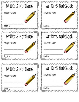 Reading Response & Writer's Notebook Labels