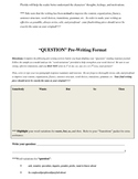 Reading Response Writing Formats and Graphic Organizers