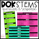Reading Response and DOK Question Stems