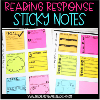 Reading Response and Graphic Organizer Sticky Notes