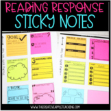 Printable & Digital Sticky Notes- Reading Response and Graphic Organizers