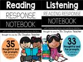 Reading Response and Listening Center Journal Notebook BUNDLE (K-2)