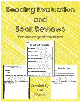 Reading Response and Reading Evaluation Sheets