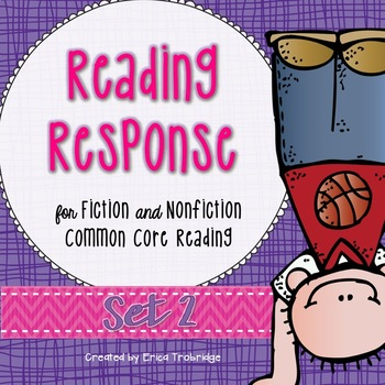 Reading Response at Home, 6 Weeks, Common Core Reading {Set 2}