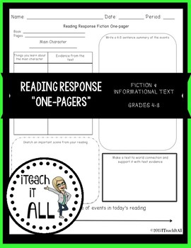 Reading Response for Fiction & Informational Text