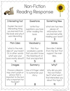 Reading Response for Grades 3-6 {Guided Reading Response}