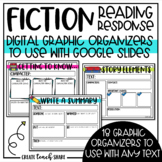 Digital Reading Response Fiction Graphic Organizers | Dist