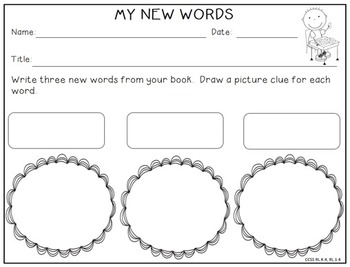 Reading Response for Primary Grades -- CCSS K-2