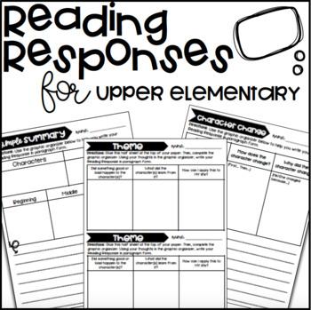 Reading Response for Upper Elementary