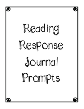 Reading Response journal prompts