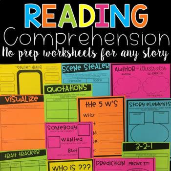 Reading Comprehension | Reading Strategies | Reading Response Worksheets