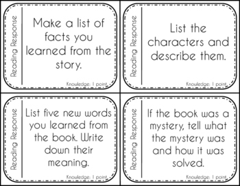 Reading Response questions {Bloom's Taxonomy style | Used with any book!}