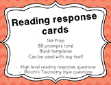 Reading Response questions {Bloom's Taxonomy style | Used