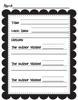 Reading Response sheets for Guided Reading or Independent Practice FREEBIE!