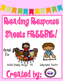 Reading Response sheets for Guided Reading or Independent