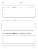 Reading Response slips and graphic organizers