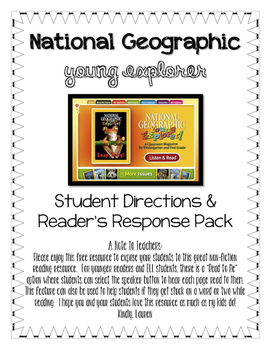 Reading Response to National Geographic: Young Explorer