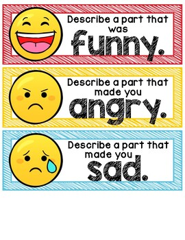 Reading Response with Emoji Faces