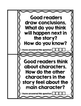 Reading Response/Comprehension Questions -A mini-booklet for students